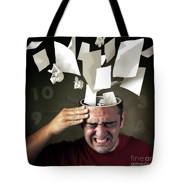 Stressed Tote Bag by Carlos Caetano