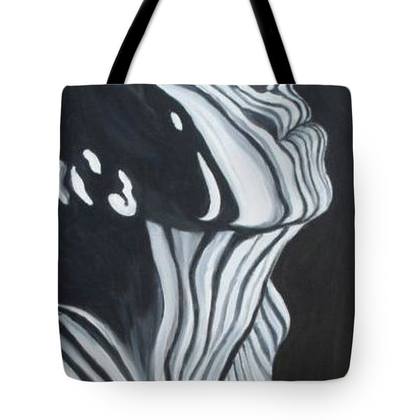 Tote Bag featuring the painting Stripes by Julie Brugh Riffey