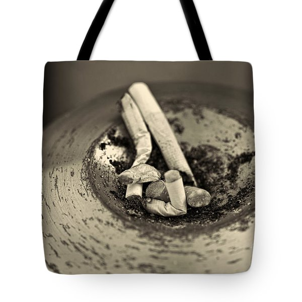 Stubbed Out. Tote Bag by Clare Bambers