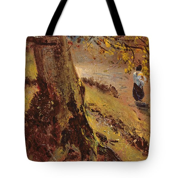 Study Of Tree Trunks Tote Bag by John Constable