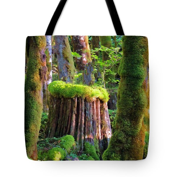 Stump And Moss  Tote Bag