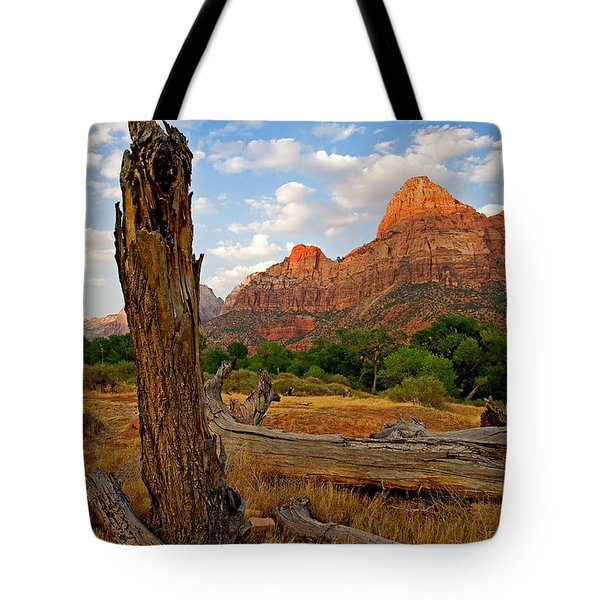 Stumped At Zion Tote Bag