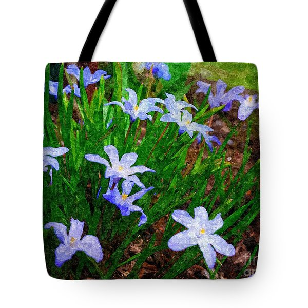 Styling In Blue Tote Bag by Nancie DeMellia