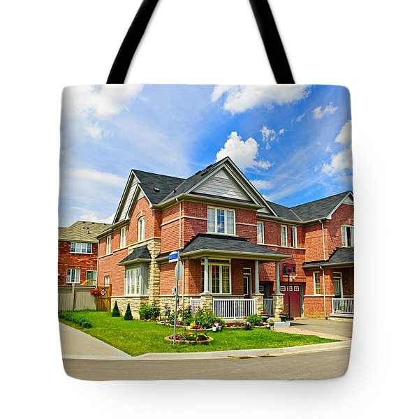 Suburban Homes Tote Bag by Elena Elisseeva