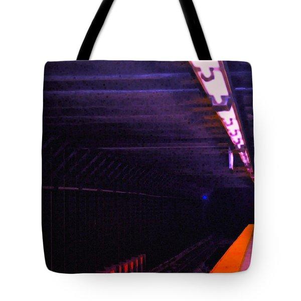 Subway Silence Tote Bag by Gwyn Newcombe