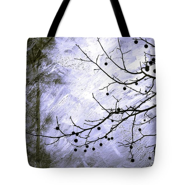 Sudden Snowstorm Tote Bag by Judi Bagwell