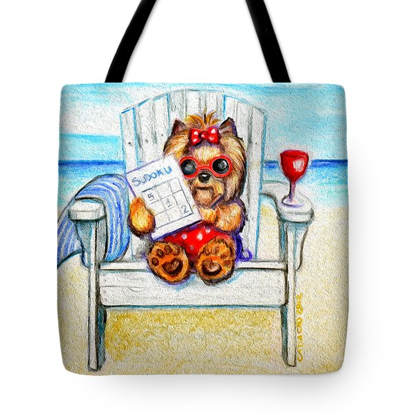 Sudoku At The Beach Tote Bag