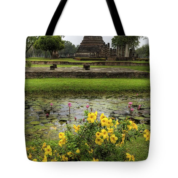 Sukhothai Historical Park Tote Bag by Adrian Evans