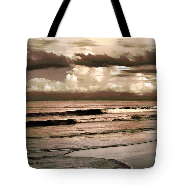 Tote Bag featuring the photograph Summer Afternoon At The Beach by Steven Sparks