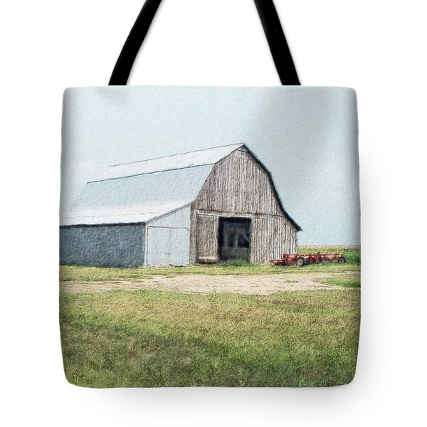 Tote Bag featuring the digital art Summer Barn by Debbie Portwood