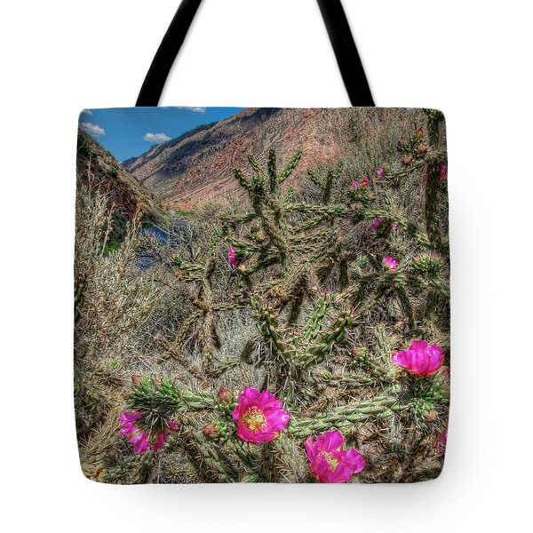 Tote Bag featuring the photograph Summer Bloom by Britt Runyon