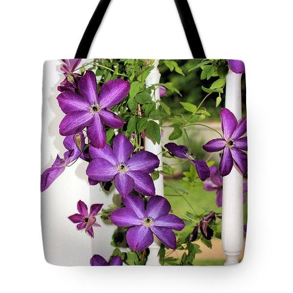 Summer Blooms Tote Bag by Kristin Elmquist