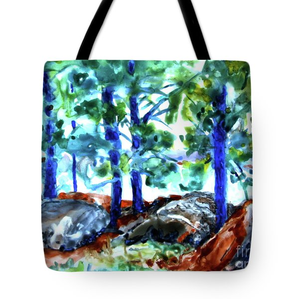 Summer By The Lake Tote Bag by Jan Bennicoff
