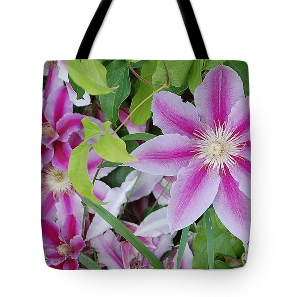 Summer Clematis Tote Bag