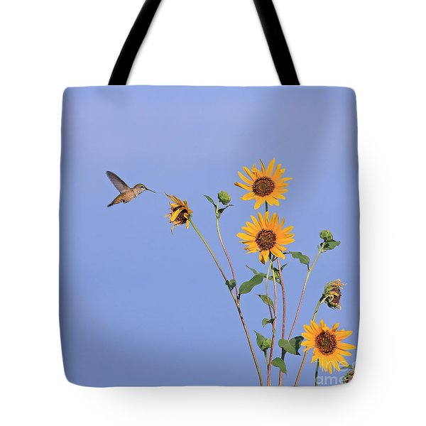 Summer Day Hummingbird Tote Bag