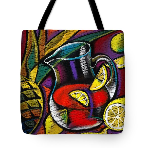 Summer Drink Tote Bag by Leon Zernitsky