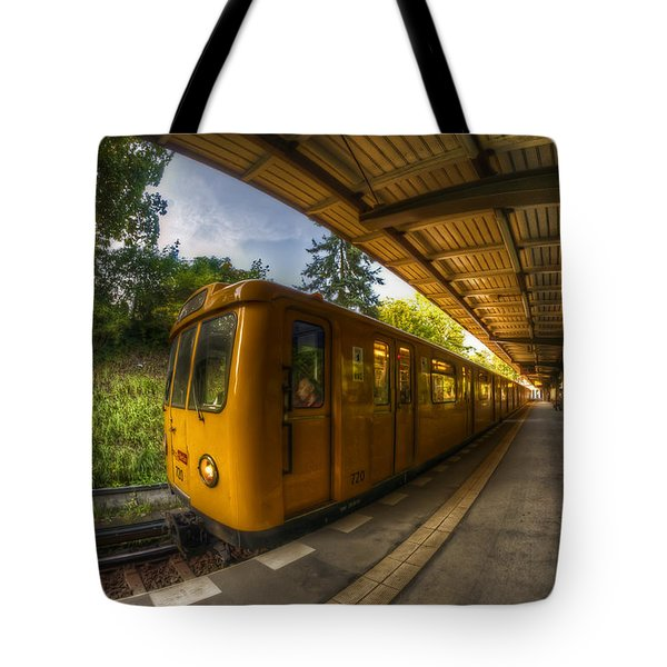 Summer Eveing Train. Tote Bag