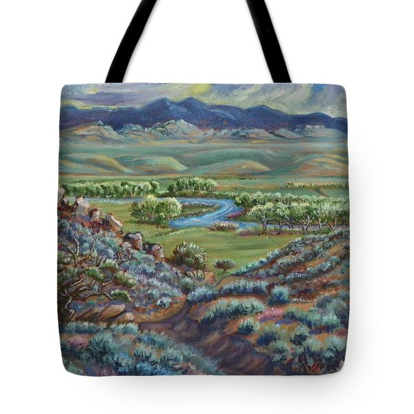 Summer Evening In The River Valley Tote Bag