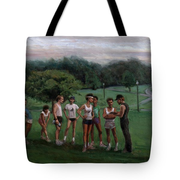 Summer Evening Meet Tote Bag by Sarah Yuster