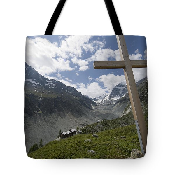 Summer In The Mountains. The Cross Tote Bag by Axiom Photographic