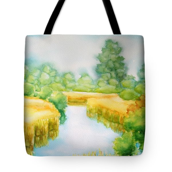Summer Marsh Tote Bag by Inese Poga