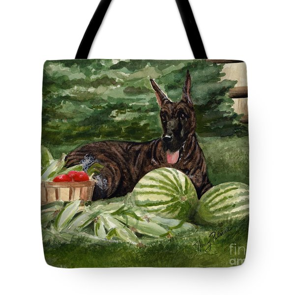 Tote Bag featuring the painting Summer by Nancy Patterson