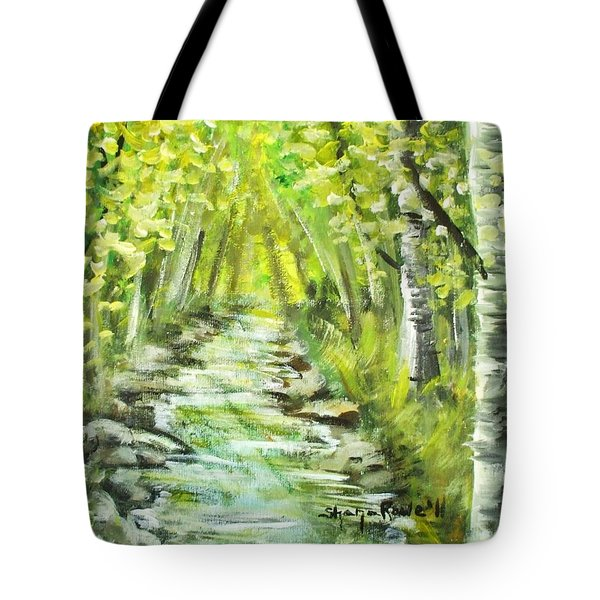 Tote Bag featuring the painting Summer by Shana Rowe Jackson