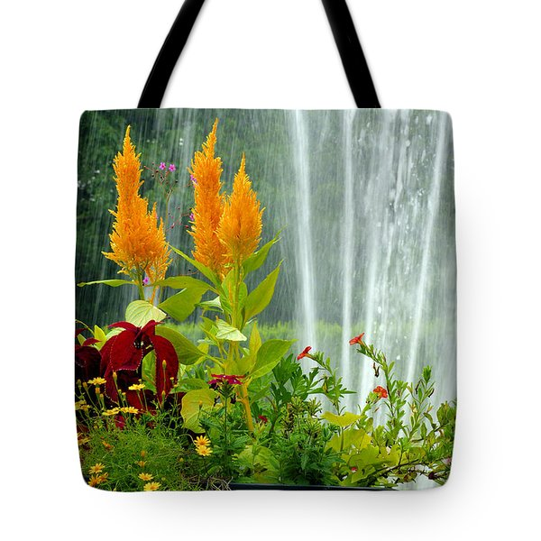 Tote Bag featuring the photograph Summer Spray by Michelle Joseph-Long