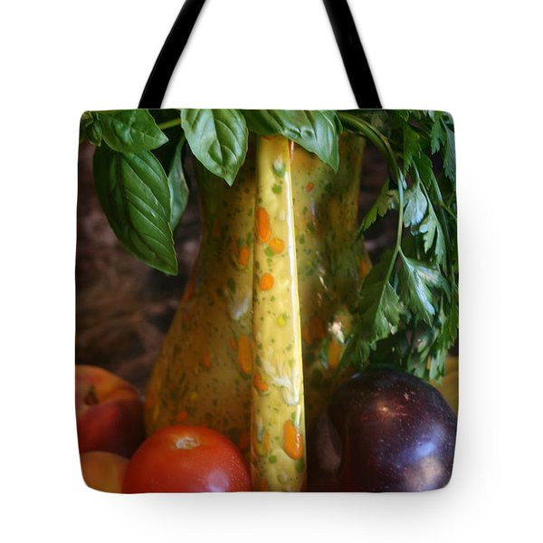 Summer's Bounty Tote Bag by Kay Novy