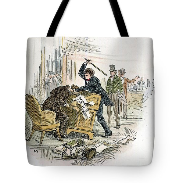 Sumner And Brooks, 1856 Tote Bag by Granger