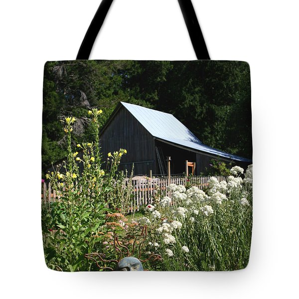 Tote Bag featuring the photograph Sun Barn by Lorraine Devon Wilke