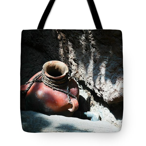 Sun Dappled Pottery Tote Bag by Jeff Swan