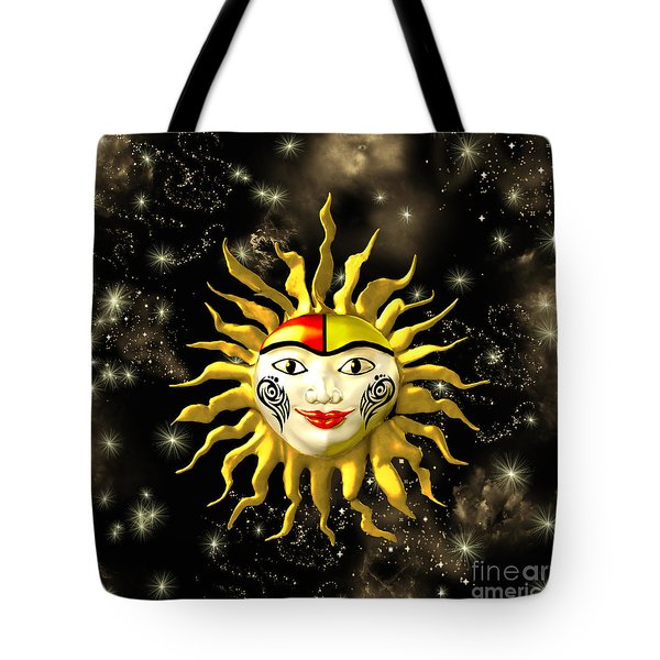 Sun Face  Tote Bag by Methune Hively
