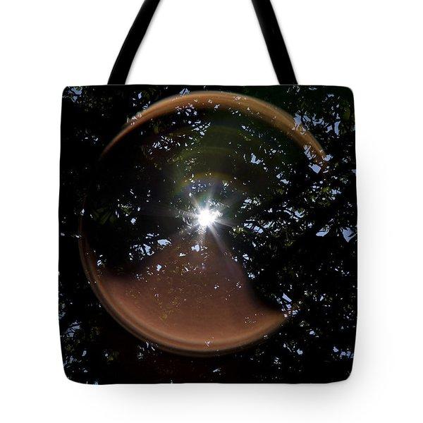 Tote Bag featuring the photograph Sun Flair by Maj Seda