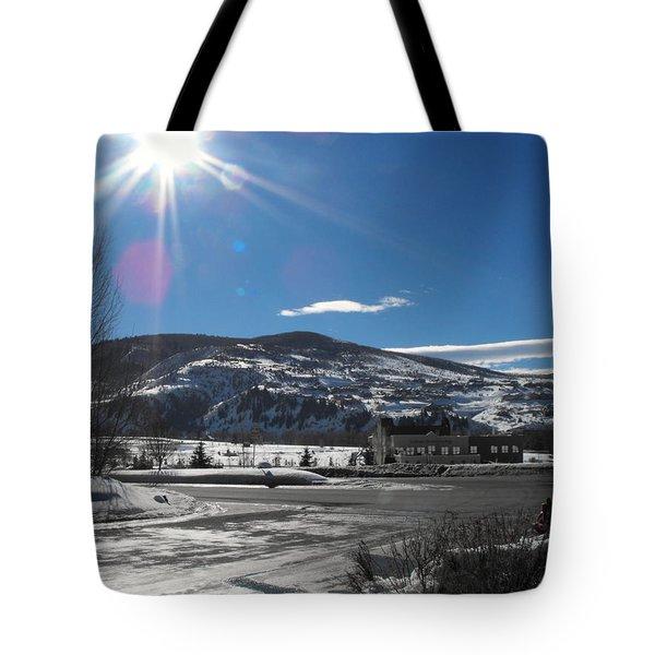 Sun On Ice Tote Bag by Adam Cornelison