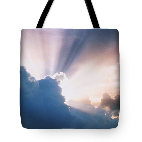Sun Rays Tote Bag by Erich Schrempp and Photo Researchers
