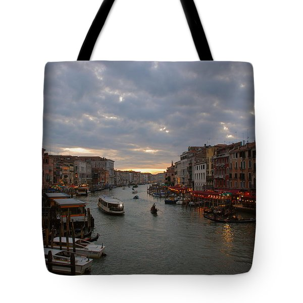 Sun Sets Over Venice Tote Bag by Eric Tressler