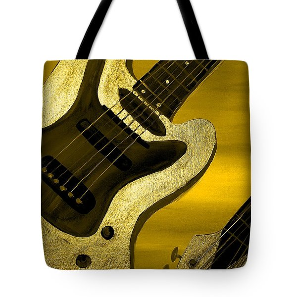 Sun Stained Yellow Electric Guitar Tote Bag by Mark Moore
