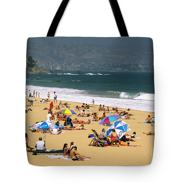 Sunbathers Tote Bag by David Frazier and Photo Researchers