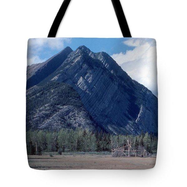 Sundance Lodge On The Kootenay Plains Tote Bag by Jim Sauchyn