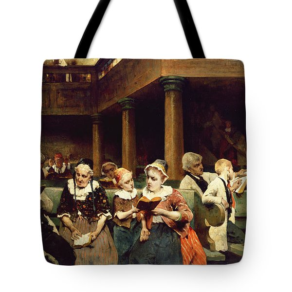 Sunday School Class  Tote Bag by Isaac Mayer
