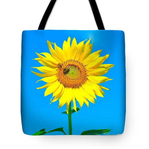 Sunflower And Bee Tote Bag by Debbi Granruth
