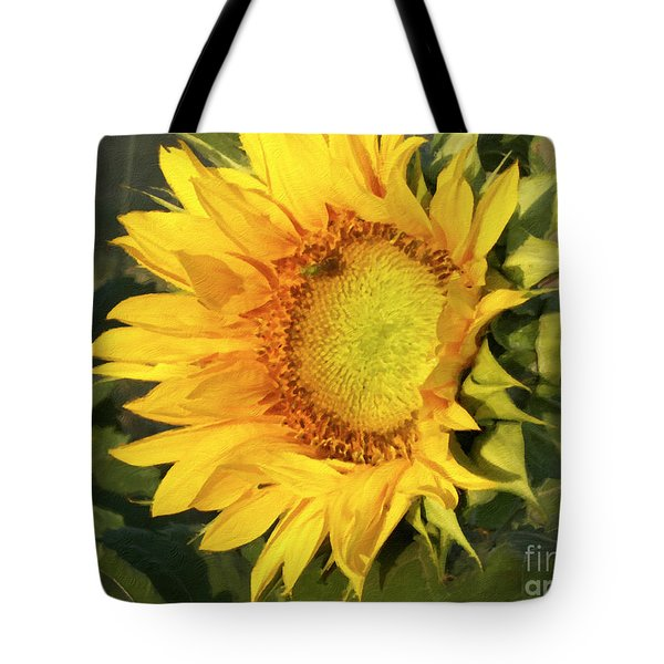 Tote Bag featuring the digital art Sunflower Digital Art by Deniece Platt