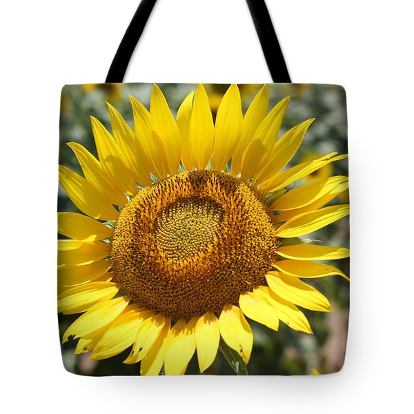Tote Bag featuring the photograph Sunflower by Donna  Smith