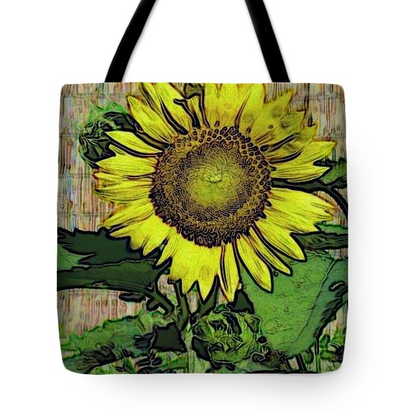 Tote Bag featuring the photograph Sunflower Face by Alec Drake