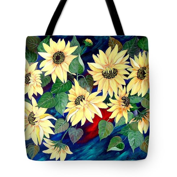 Sunflower Orgy Tote Bag