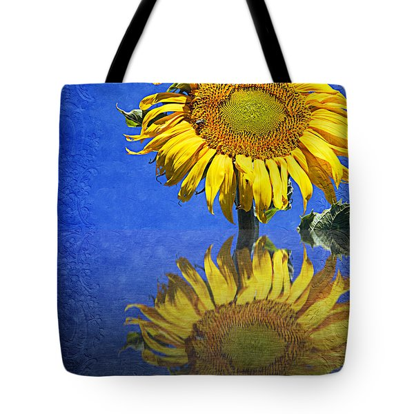 Sunflower Reflection Tote Bag by Andee Design