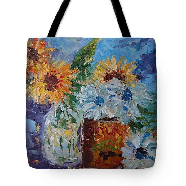 Sunflower Still Life Two Tote Bag