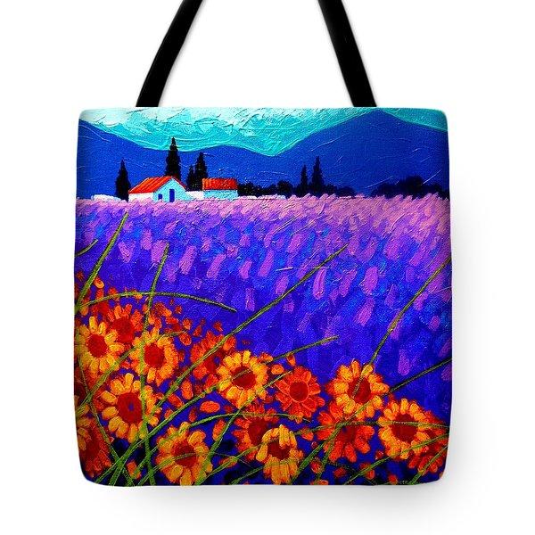 Sunflower Vista Tote Bag by John  Nolan