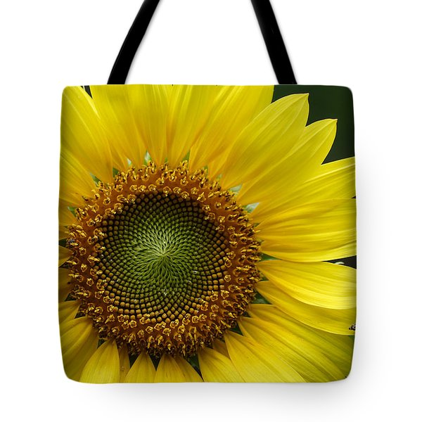 Sunflower With Insect Tote Bag